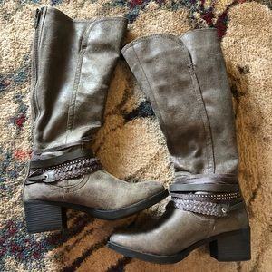 Tall Grey Boots